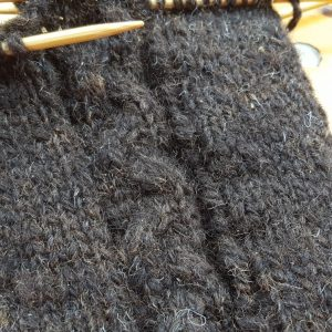 Leg Warmers 100g Black Cheviot Skein (hand spun wool)