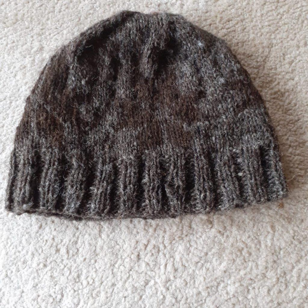 Black Silver Skein and Black Skein (hand spun wool)