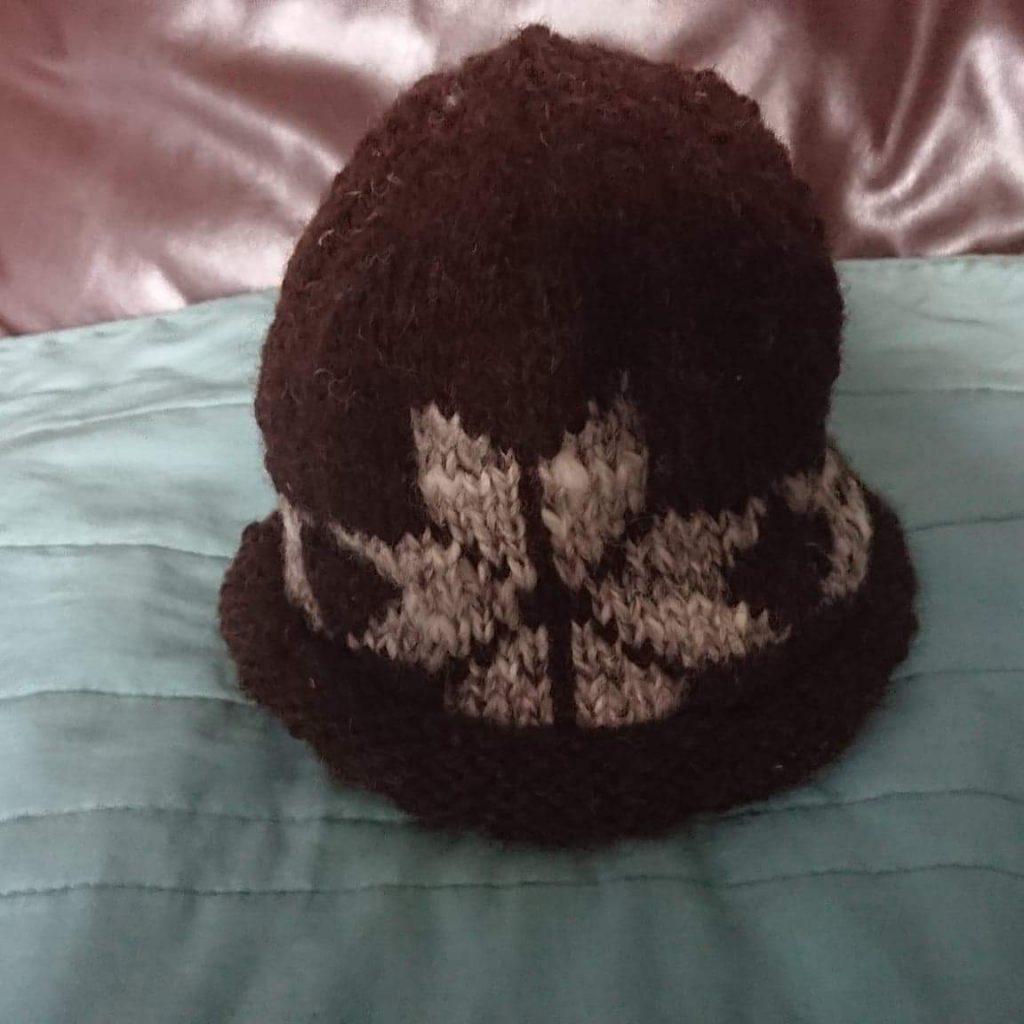 Black 50g Skein knitting (hand spun wool)