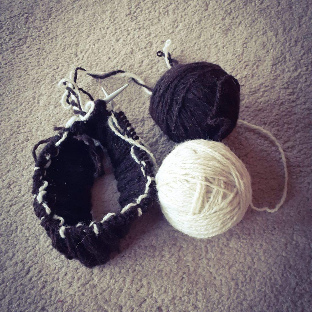preparation (hand spun wool)