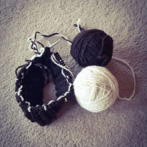 preparation (hand spun wool)