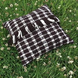 Woven Pillow (hand spun wool)