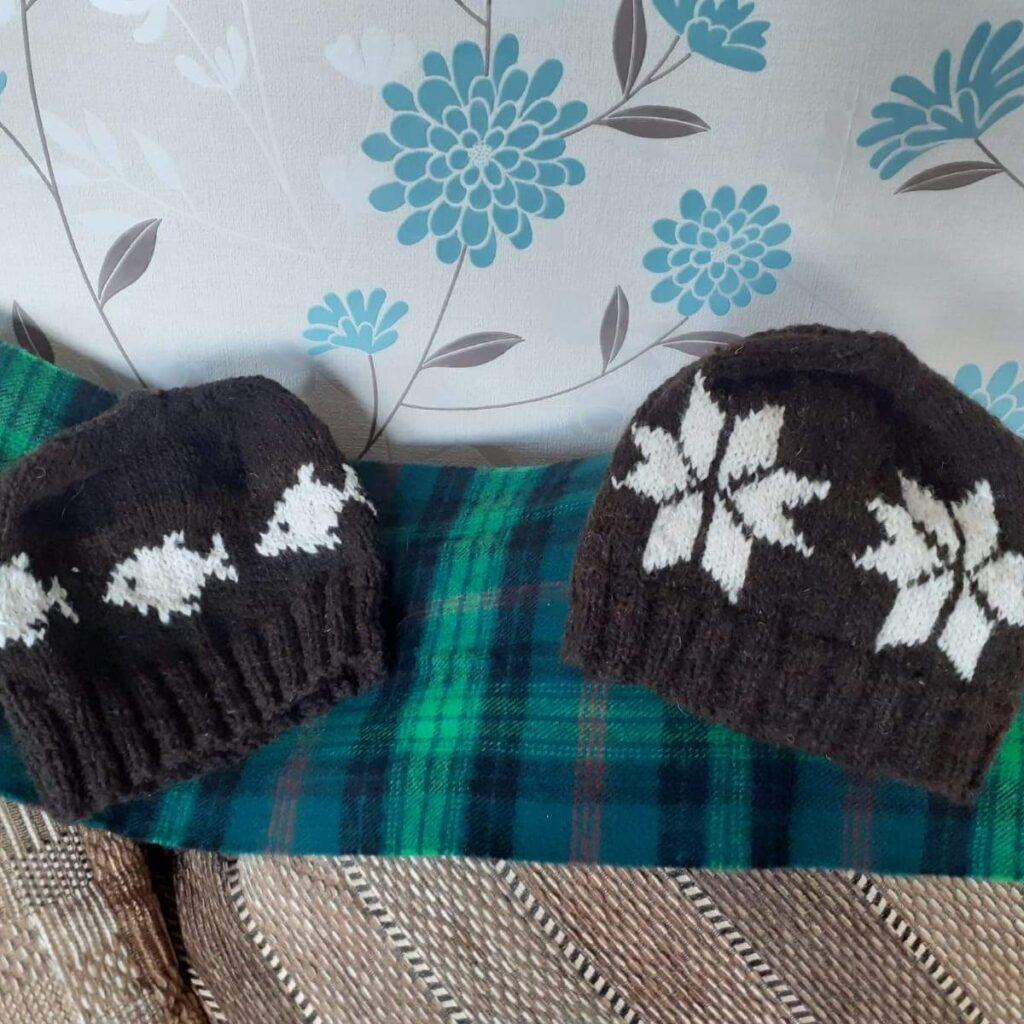 Hats (hand spun wool)