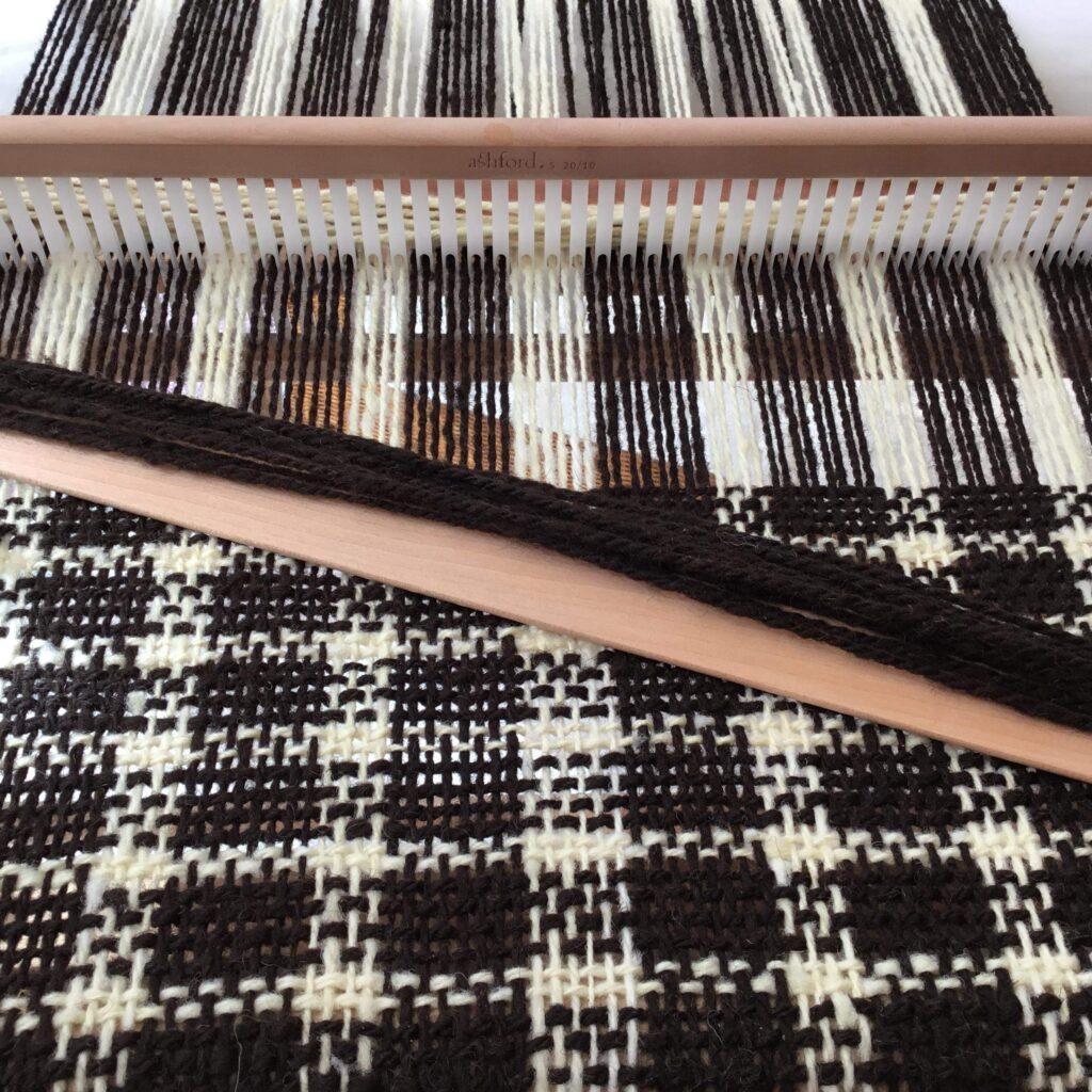 Weaving (hand spun wool)