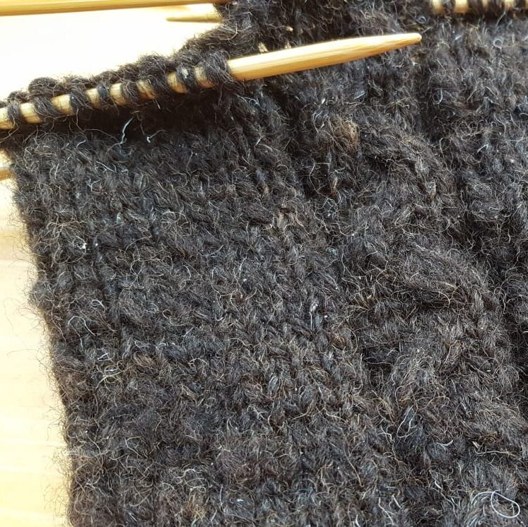 Leg Warmers 100g Black Cheviot Skein (hand spun wool)