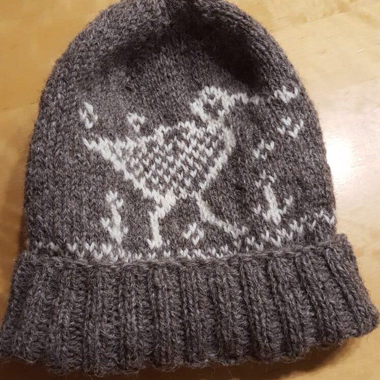 3DK rustic grey /white (machinespun) 100g Curlew hat